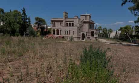Greece in crisis the villa at Zografou
