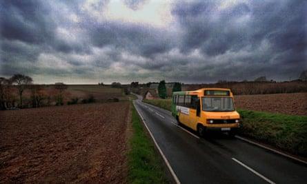 Rural Bus service between Saffron Walden and Thaxted, Essex