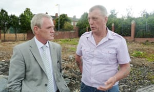 Community workers Liam Maskey and Jackie McDonald