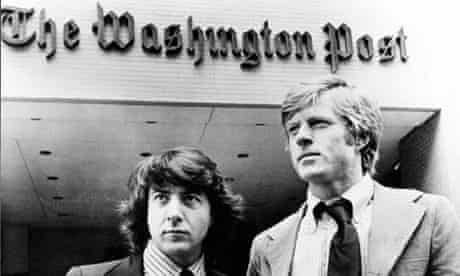 Dustin Hoffman and Robert Redford investigate Watergate in All The President's Men.