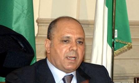 Libyan interior minister Nassr al-Mabrouk Abdullah