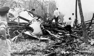 Il relitto dell'aereo di Dag Hammarskjöld