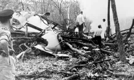 The wreckage of Dag Hammarskjöld's plane
