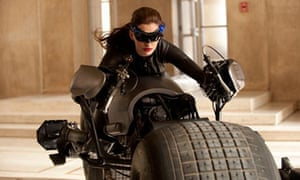Anne Hathaway as Cat Woman in The Dark Knight Rises