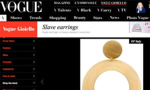 """slave"" earrings"