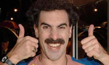 Borat, aka comic actor Sacha Baron Cohen