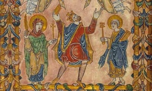 King Edgar and Christ in Majesty, Winchester, 966, owned by the British Library
