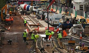 Work began on the Edinburgh tram project in 2009.