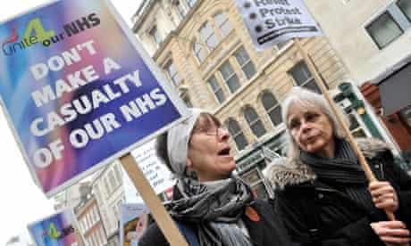 Protests against NHS cuts