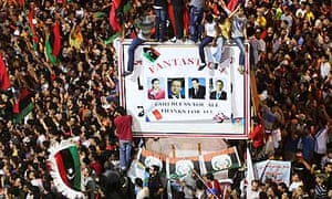 Libyans celebrated the fall of Tripoli to