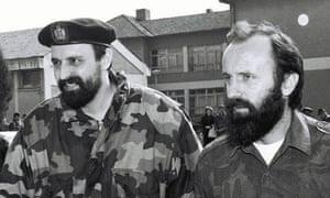 Goran Hadzic (in beret) in 1993