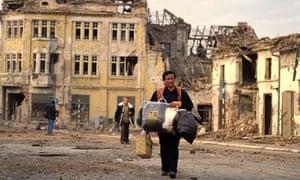 The ruins of Vukovar, 1991