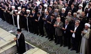 Ayatollah Ali Khamenei leads Eid al-Fitr-prayers in Tehran