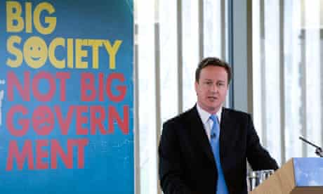 David Cameron delivers a speech on the 'big society'