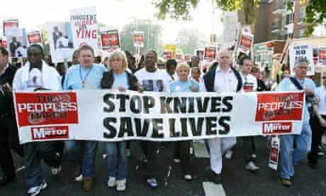 March against knife crime
