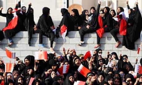 Bahraini supporters of al-Wefaq opposition group