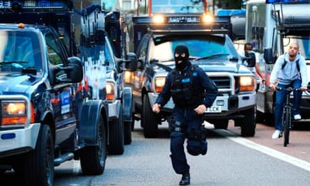 Police use armoured vehicles