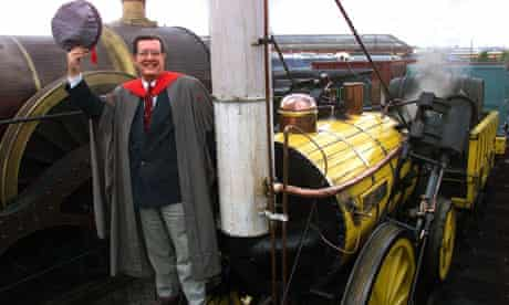Dr. Michael Bailey, awarded the world's first Doctorate in Railway Studies