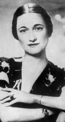 Portrait dated 1930's of Wallis Simpson