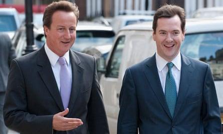 David Cameron with George Osborne