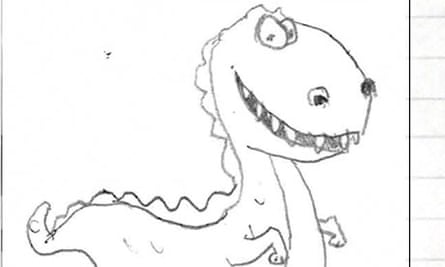 A dinosaur drawn by a Marks & Spencer employee