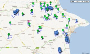 Wind farm development map