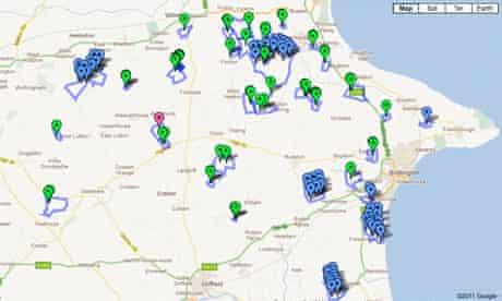 Wind farm development map