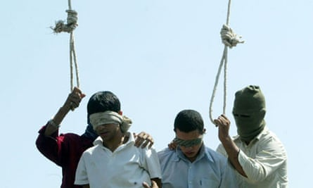 Iranian teenagers are publicly hanged 2005