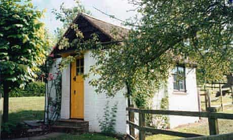 Roald Dahl's hut, in the garden of his home, Gipsy House in Great Missenden, Buckinghamshire.