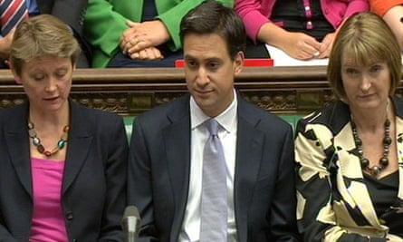 Labour Yvette Cooper Ed Miliband and Harriet Harman