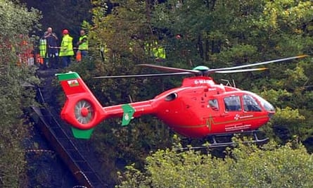 Four miners are still trapped 300ft underground after a mine collapsed in the Neath Valley