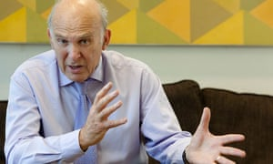 Vince Cable in his office at the Department of Trade and Industry