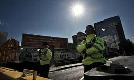 There has been a large police presence in Birmingham due to the Liberal Democrats' annual conference