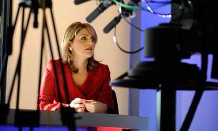 BBC Persian presenter in TV studio