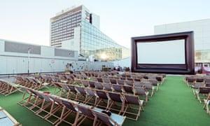 Katusekino open air cinema in Tallinn, Estonia