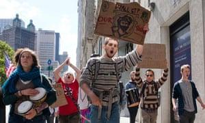 Anti-capitalist protestors in New York