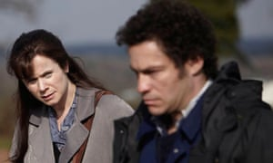 Emily Watson as Janet Leach and Dominic West as Fred West in ITV1's Appropriate Adult.