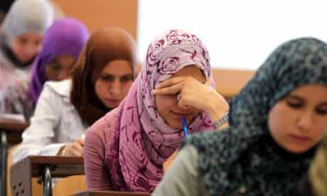 Libyan students in Tripoli