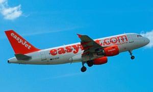 easyjet plane takeoff