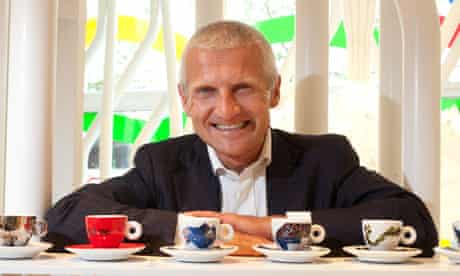 Andrea Illy with espresso cups