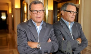 WPP chief executive Sir Martin Sorrell with his reflection