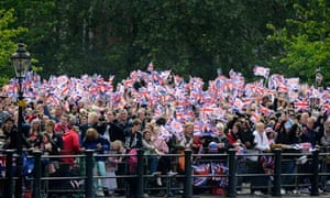 Crowds during the royal wedding
