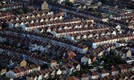 rooftops of houses in Bristol