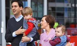 Ed Miliband and his wife Justine arrive at Liverpool Echo Arena for the conference with their sons