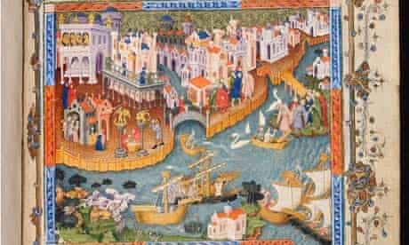 Picture of a city from travels of Marco Polo