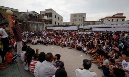 Protests, Wukan village, China