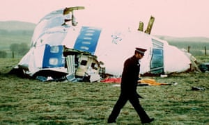 Pan Am flight103 in a field near Lockerbie