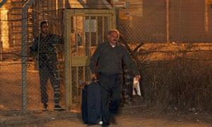 Al-Jazeera journalist Samar Allawi  leaves an Israeli prison