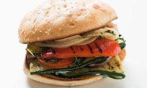 Grilled vegetable burger