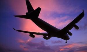 747 Jumbo Jet landing at Heathrow airport